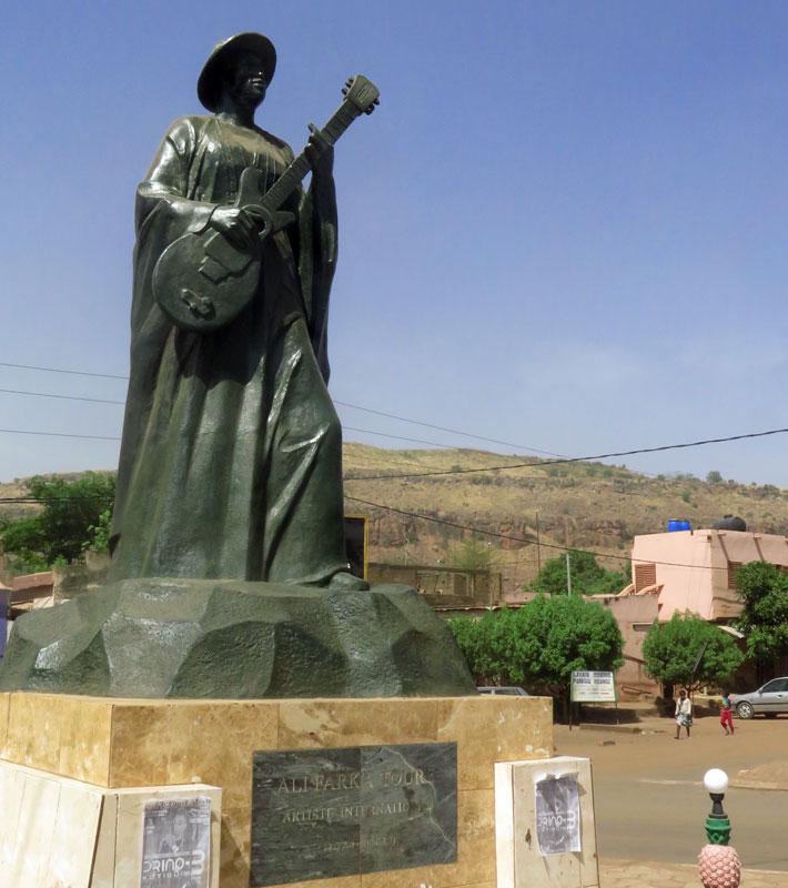 Statue of Ali Farka Toure in Bamako