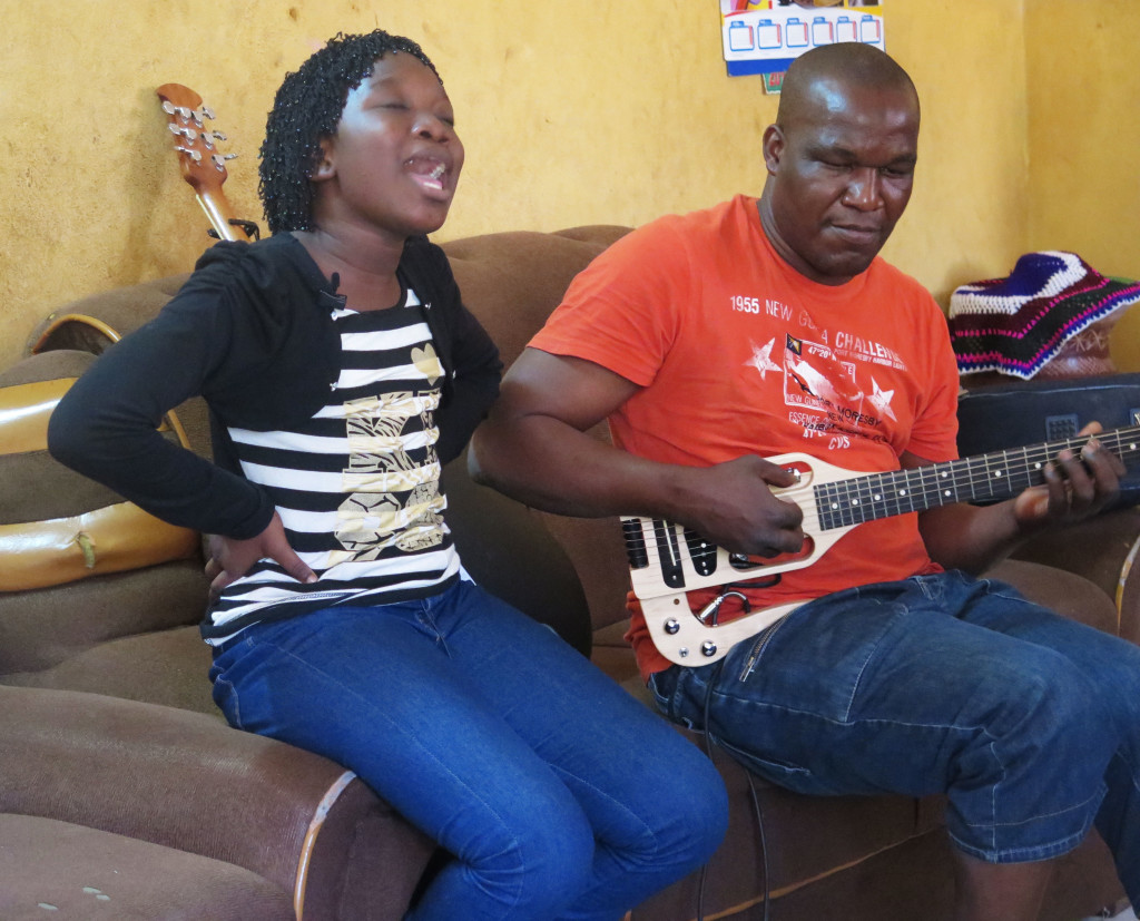 Lassine Diabate and his daughter Ami