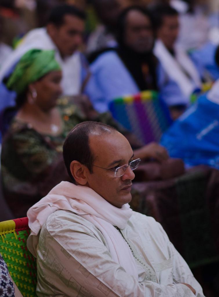 Manny Ansar at Segou peace forum (Eyre 2016)