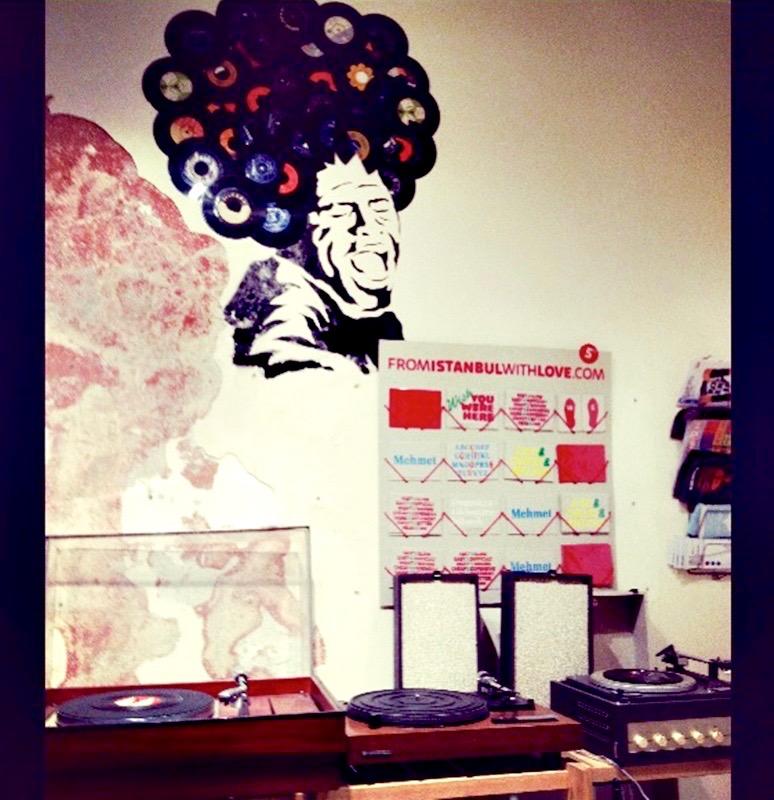 record shop listen station