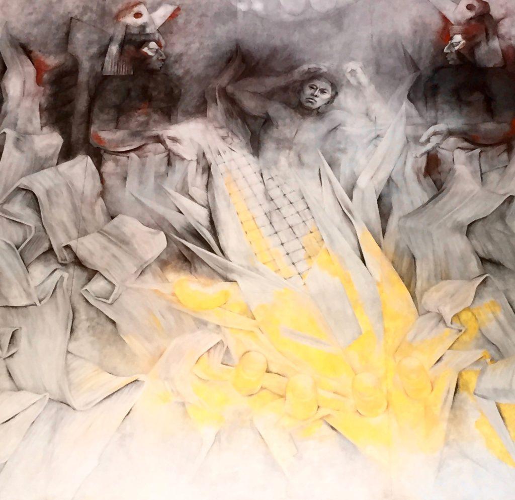 corn mural merida