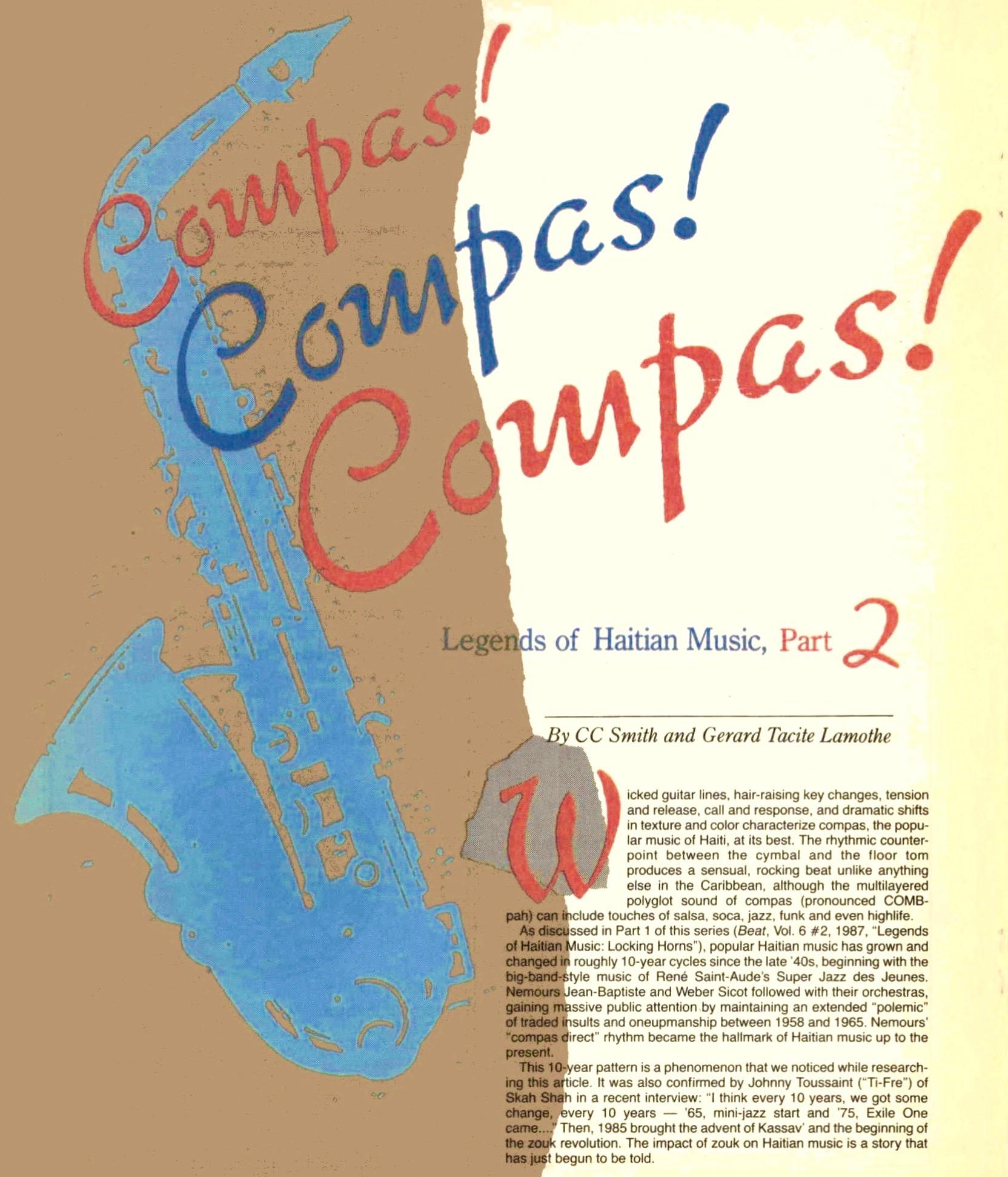Best of The Beat on Afropop: Haiti 101, Part Two--Compas! Compas! Compas!