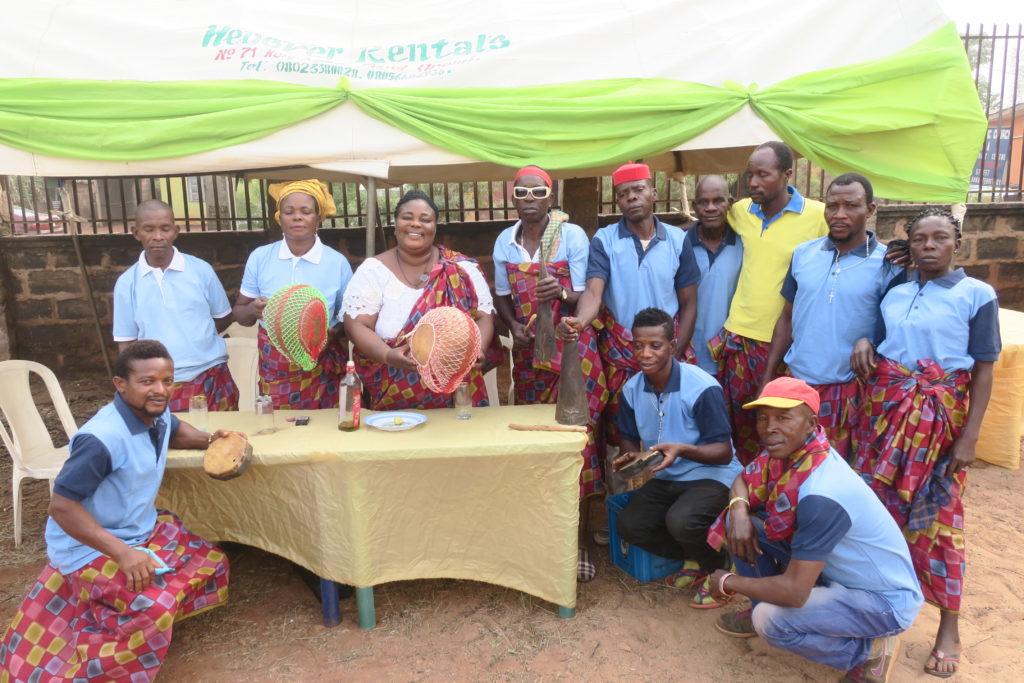 Paulina Ogenete and her traditional asonogun group