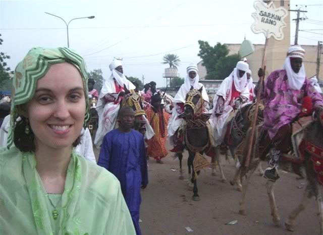 Carmen McCain in Kano during Eid el Fitr, 2008