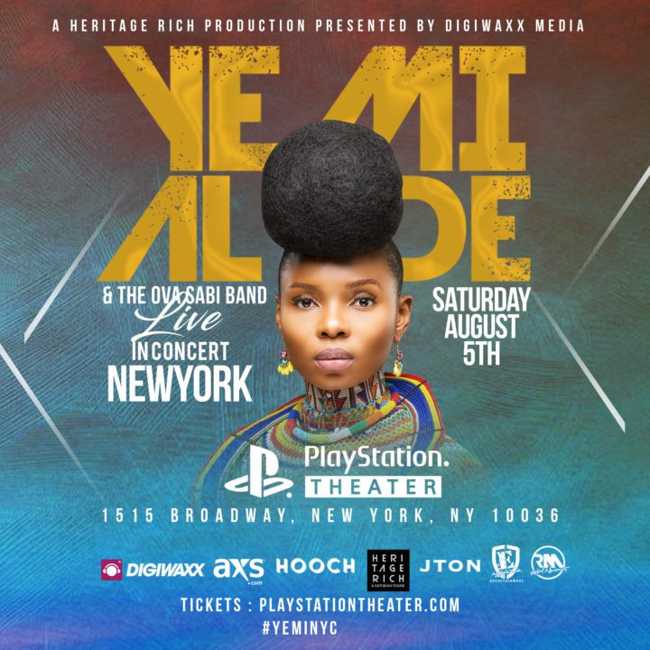 Ticket Giveaway: Yemi Alade at Playstation Theater